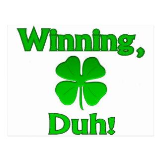 Día de Charlie Sheen St Patrick que gana Tarjetas Postales