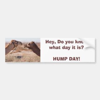 Día de chepa etiqueta de parachoque