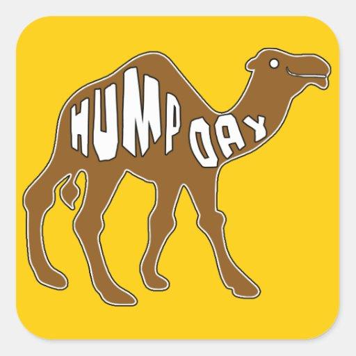 DÍA de CHEPA con el camello Calcomanías Cuadradass Personalizadas