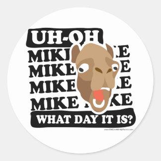 ¿Día de chepa del camello, conjetura qué día es?!? Pegatina Redonda