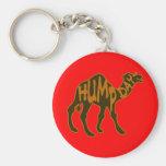 Día de chepa divertido con el camello llaveros personalizados