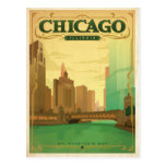 Día de Chicago, IL - St Patrick Tarjeta Postal