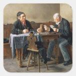 Día de cobro, 1887 pegatina cuadrada