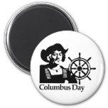 Día de Colón Imán Para Frigorífico