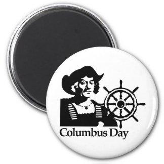 Día de Colón Imán Redondo 5 Cm