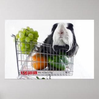 Día de compras del conejillo de Indias Impresiones