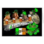 Día de consumición irlandés del St Patricks del eq Tarjetón