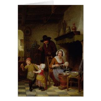 Día de crepe, 1845 tarjeta de felicitación