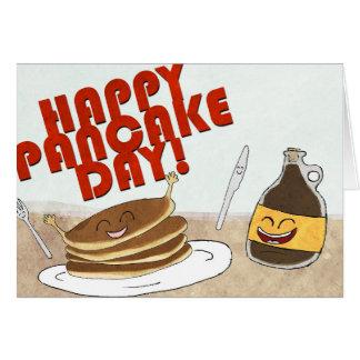 ¡Día de crepe feliz! Diseño del dibujo animado Tarjeta