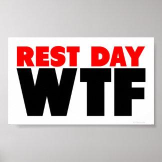Día de descanso WTF Posters