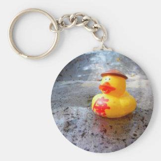 Día de Duckys Llavero Redondo Tipo Pin
