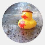 Día de Duckys Pegatina Redonda