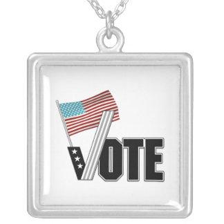 Día de elección del voto colgante cuadrado