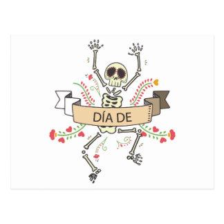DIA DE Festival of the Dead Postcard