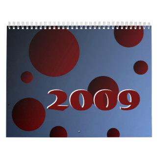 Día de fiesta 2009 calendarios de pared