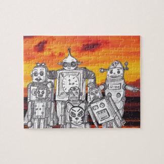 Día de fiesta 3 del robot rompecabeza