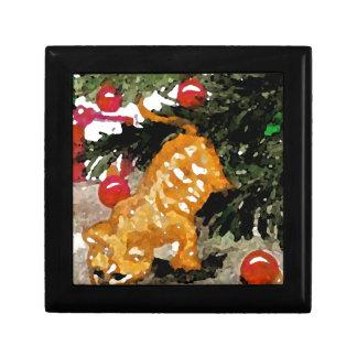 Día de fiesta anaranjado del árbol de navidad del  cajas de joyas