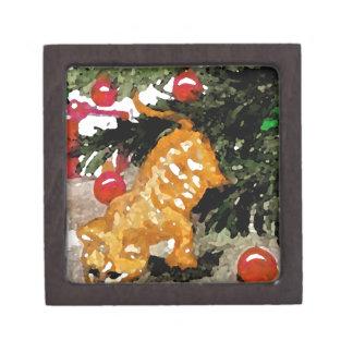 Día de fiesta anaranjado del árbol de navidad del  caja de regalo de calidad