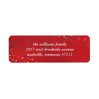 Día de fiesta asperjado del navidad de la alegría etiqueta de remite