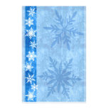 Día de fiesta azul del copo de nieve inmóvil  papeleria