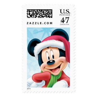 Día de fiesta azul Mickey Timbre Postal