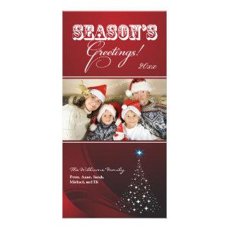 Día de fiesta brillante Photocard del árbol de Tarjetas Con Fotos Personalizadas