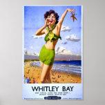 Día de fiesta británico British Rail de la playa d Poster