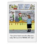Día de fiesta caliente del café tarjetas