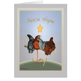 Día de fiesta Card.v2 del pollo del patio trasero  Tarjeta Pequeña