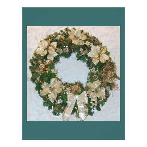 Día de fiesta ChristmasWreath Tarjetones
