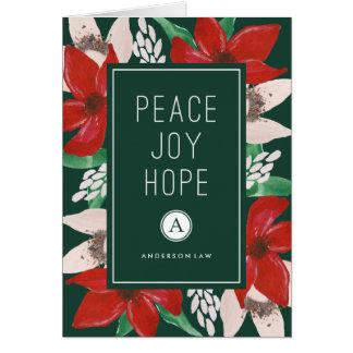 Día de fiesta corporativo de la esperanza de la tarjeta de felicitación