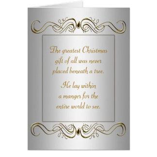 Día de fiesta cristiano del navidad felicitacion
