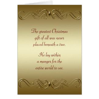 Día de fiesta cristiano del navidad tarjetas