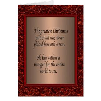 Día de fiesta cristiano del navidad tarjetón