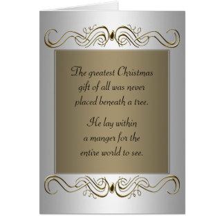 Día de fiesta cristiano del navidad tarjeta