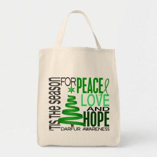 Día de fiesta Darfur del navidad de la esperanza d Bolsa De Mano