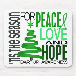 Día de fiesta Darfur del navidad de la esperanza d Alfombrillas De Ratón