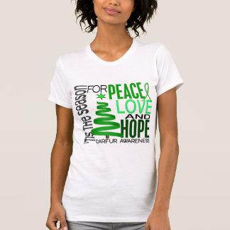 Día de fiesta Darfur del navidad de la esperanza Camisetas