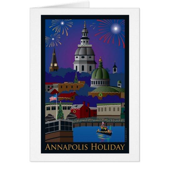 Día de fiesta de Annapolis con título Tarjeta De Felicitación