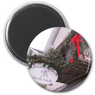 Día de fiesta de diciembre imán redondo 5 cm