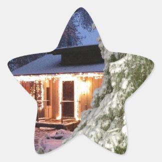Día de fiesta de High Sierra Pegatina En Forma De Estrella
