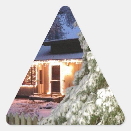 Día de fiesta de High Sierra Pegatina Triangular