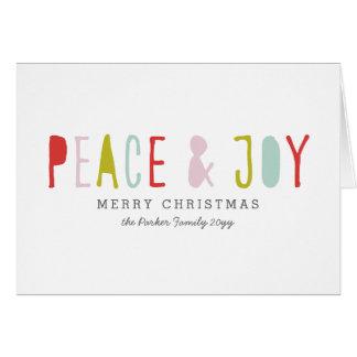 Día de fiesta de la alegría del invierno tarjeta pequeña