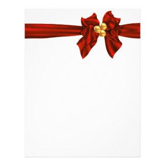 Día de fiesta de la cinta del navidad inmóvil membrete personalizado