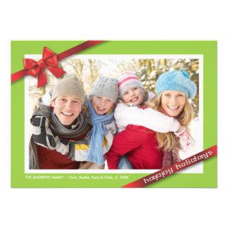 Día de fiesta de la familia:: Tarjeta de la foto d Comunicados Personalizados