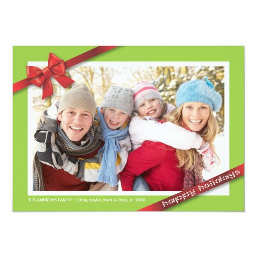 Día de fiesta de la familia:: Tarjeta de la foto Invitación 12,7 X 17,8 Cm