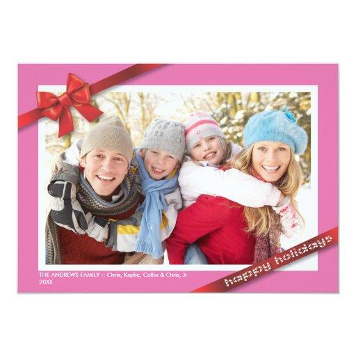 Día de fiesta de la familia:: Tarjeta de la foto Invitacion Personal