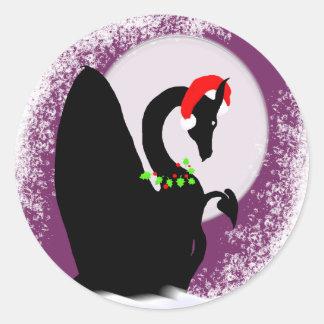 Día de fiesta de la luna del dragón (magenta pegatina redonda