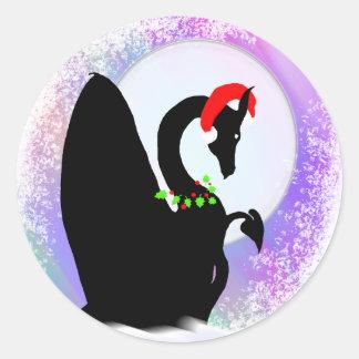 Día de fiesta de la luna del dragón (neblina pegatina redonda