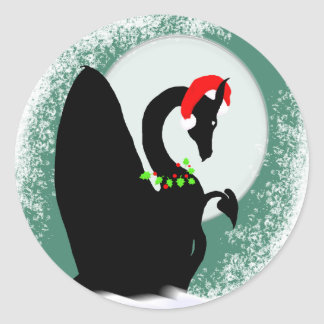 Día de fiesta de la luna del dragón (verde) pegatina redonda